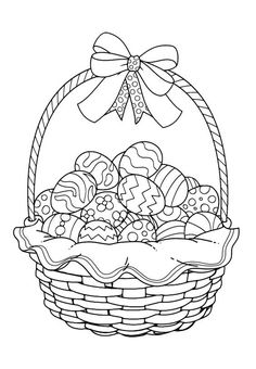 Easter coloring pages - Uskrs bojanke za djecu - Free printables, Easter bunny, eggs, chicks and more on BonTon TV - Coloring books Easter Coloring Pages Printable, Easter Coloring Sheets, Spring Coloring Pages, Easter Colouring, Cute Coloring Pages, Easter Printables, Coloring Pages For Kids, Coloring Books, Free Printables