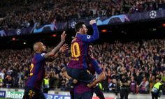 Lionel Messi of Barcelona celebrates after he scores his sides second goal during the UEFA Champions League Semi Final first leg match between Barcelona and Liverpool at the Nou Camp on May 2019 in Barcelona, Spain. Liverpool Uefa Champions League, Liverpool Stadium, Camisa Liverpool, Liverpool Kit, Liverpool Vs Manchester United, Gerrard Liverpool, Anfield Liverpool, Champions League Semi Finals, Champs