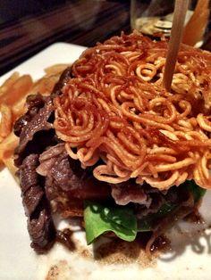 Korean beef ramen burger