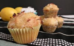 Zesty Lemon Coconut Muffins—there's sunshine in every bite (@ Eat Your Heart Out)
