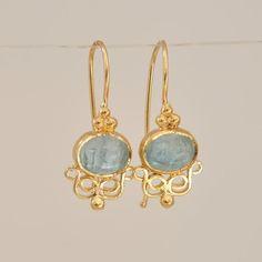 Lunaria Small Aquamarine Earrings - AQD Y - Gold Dangle Earrings , Dangle Earring , Gold Earrings , Long Earrings , Solid Gold Earrings - Aquamarine Earrings, Turquoise Earrings, Gemstone Earrings, Dangle Earrings, Aquamarine Gemstone, Diamond Earrings, Pendant Necklace, Diy Schmuck, Schmuck Design