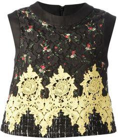 Antonio Marras embroidered sleeveless top on shopstyle.com