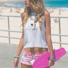 Love the pink penny board