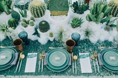 Succulents are on top now, they are everywhere including weddings. Cacti are also very trendy, and there's nothing better for a desert wedding or just a boho...