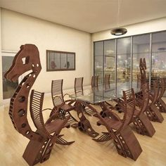This Viking Conference Table Will Turn Your Meeting Into A Viking Raiding  Party    Wildetecture