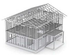 Casas industriais Steel framing