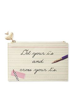 kate spade new york® Dot Your Is Pencil Pouch With Bridge Pencils