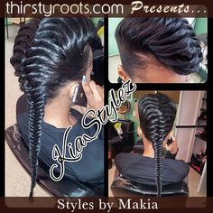 Fishtail braid...not sure how she does this, but I want to do this with my hair STAT!