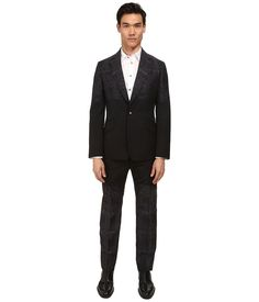 Image of Vivienne Westwood - Pixelated Tartan James Suit (Grey Multi) Men's Suits Sets