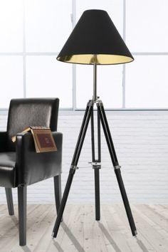 Luxury Neofurn MARIS design tripod floor lamp black chrome standard light Neofurn http