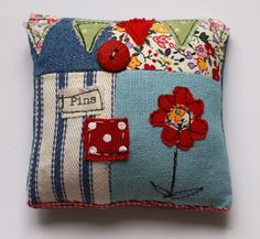 Lavender Scented Pin Cushion by pantsandpaper on Etsy