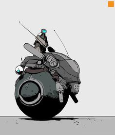 Vehicles and dudes, Darren Bartley - fightPUNCH Robot Concept Art, Concept Cars, Concept Ships, Character Concept, Character Art, Illustrations, Illustration Art, Science Fiction Kunst, Arte Robot