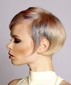 Straight Formal Pixie- side on view