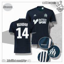 Maillots-Sport: Créer Maillot De Foot Marseille OM Nkoudou 14 Exterieur 2016 2017