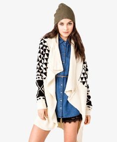$27.80 Tribal Inspired Shawl Cardigan | FOREVER21 - 2053969402
