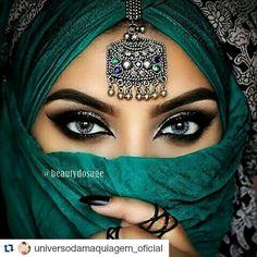 Beautiful makeup with hijab