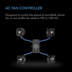 AC Infinity, Fan Speed Controller for 100 to 125V AC Axial Muffin Cooling Fans, Single Connector, for DIY Cooling Ventilation Exhaust Projects - Walmart.com - Walmart.com Ac Fan, Noise Levels, Temperature And Humidity, Wall Outlets, Wood Screws, Chromebook, Exhausted, Infinity, The 100