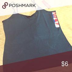 NWT merona adjustable cami Size L super soft teal color Merona Tops Camisoles