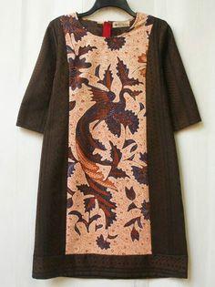 Stripped dress batik banyumas