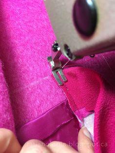 Tatianologia: Обработка накладного кармана без отделочной строчки
