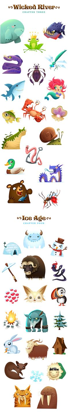 Save The King: A Matching Adventure on Behance ★ Find more at http://www.pinterest.com/competing/