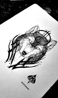 Blackwork wolf sketch by Cute Tattoos, Leg Tattoos, Body Art Tattoos, Sleeve Tattoos, Tatoos, Wolf Tattoo Design, Tattoo Design Drawings, Tattoo Designs Men, Wolf Tattoos For Women