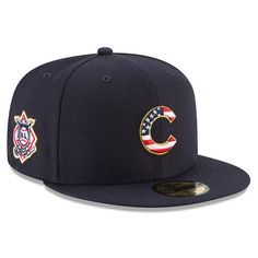 Men s Chicago Cubs New Era Navy 2018 Stars   Stripes 4th of July On-Field 59FIFTY  Fitted Hat 86ebf7fa56c4