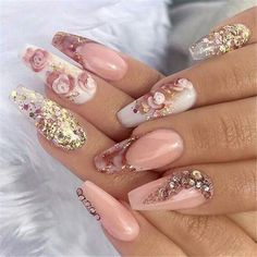 Awesome Coffin Nail Designs You'll Flip For in 2019 35 Awesome Coffin Nails Designs You'll Flip For in 2019 img 1435 Awesome Coffin Nails Designs You'll Flip For in 2019 img 14 Glam Nails, Bling Nails, 3d Nails, Acrylic Nails, Fabulous Nails, Gorgeous Nails, 3d Nail Designs, Nagel Bling, Nagellack Trends