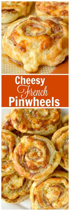 Cheesy French Pinwheels. A super easy appetizer that starts with store bought… www.gonnawantseconds.com/