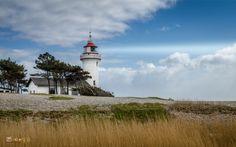 The lighthouse on Sletterhage, Helgenæs in Denmark