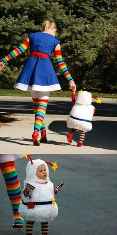 Rainbow Brite and Twink costumes! melissa_matuza Rainbow Brite and Twink costumes! Rainbow Brite and Twink costumes! Halloween Stories, Halloween Week, Fete Halloween, Diy Halloween Costumes, Halloween Clothes, Baby Halloween, Mother Daughter Halloween Costumes, Halloween Ideas, Rainbow Brite Halloween Costume