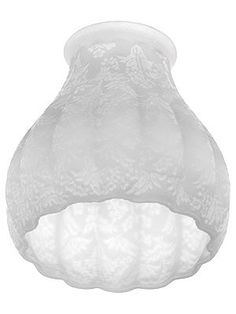 """Melon Frosted Glass Shade with 2 1/4"""" Fitter"""
