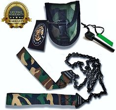 Sportsman Camo Pocket Chainsaw 36 Inches Long  FREE Fire Starter This Hand Saw Tool is Best for Survival Gear  Camping  Hunting or Home Owner Replaces a Pruning or Folding Saw Full Guarantee ** Details can be found by clicking on the image.