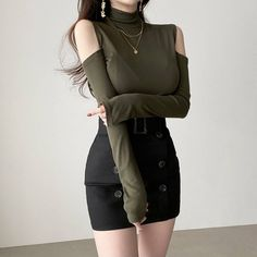 Cute Comfy Outfits, Classy Outfits, Trendy Outfits, Girl Outfits, Girls Fashion Clothes, Trendy Clothes For Women, Fashion Outfits, Korean Girl Fashion, Ulzzang Fashion