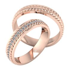 Verighete din aur roz model rasucit ESV2