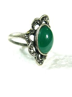 Emerald Cubic Zirconia Cocktail Ring Boho Fashion Oxidized Silver Tone Ring Mogul Interior http://www.amazon.com/dp/B00Q9TQJLU/ref=cm_sw_r_pi_dp_t0fEub1J70CJY