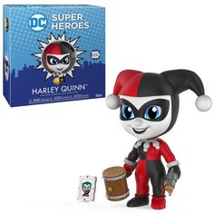 From DC Comics, Harley Quinn, as a stylized 5 Star figure from Funko! figure stands 3 inches and comes in a window display box. Check out the other DC Comics figures from Funko! Funko Figures, Vinyl Figures, Action Figures, Pop Figures, Harley Quinn, Madrid Barcelona, Dc Comics, Create Your Own Story, Star Character