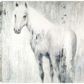 Found it at Wayfair - Horse In Blue by Anastasia C. Painting on Wrapped Canvas