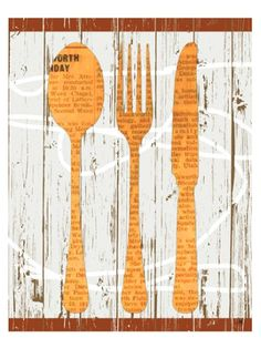 yellow silverware wall art  http://rstyle.me/n/nz222pdpe