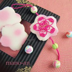桜のさげ飾り