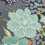Asami for Makower UK (Andover) by Henley Studio  Large Flower on Blue