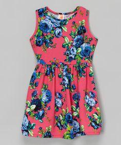 Fuchsia Floral Dress - Toddler & Girls