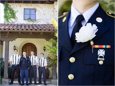 military looks for the groom #dressblues http://www.weddingchicks.com/2013/12/16/navy-and-gold-wedding/