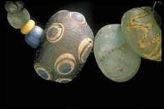 Viking age beads from Björkö. Love the colours.