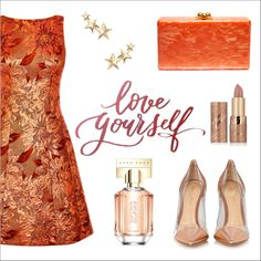 Love Yourself {Pοlyvore Collection ~ 17 Ways to Wear Jacquard Dresses} by elli-argyropoulou on Polyvore featuring polyvore, fashion, style, Karen Millen, Gianvito Rossi, Edie Parker, Kenneth Jay Lane, tarte, HUGO and clothing