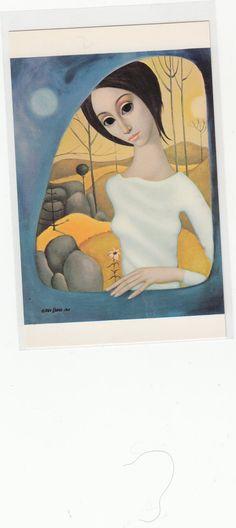 1960s Artist Margaret Keane Postcard Big by Museumofantiquepaper