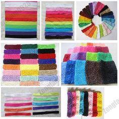 lot of Wholesale Kid Baby Girls Stretchy Elastic Lace/Glossy/crochet Headbands