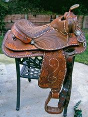 Vintage Circle Y Buckstitch All Around Saddle