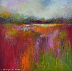 Abstract Landscape 26 - Contemporary Landscape Painting - Acrylic and mixed media on canvas