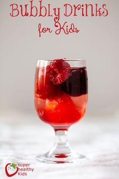 Fancy bubbly cherry soda for kids!